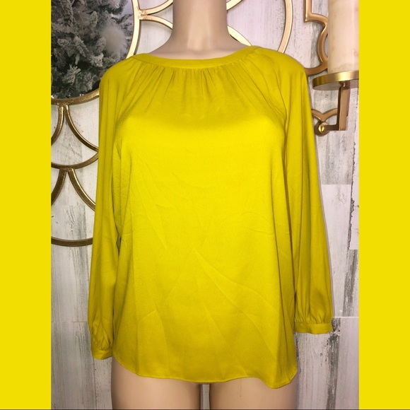 Ann Taylor Tops - ANN Taylor Yellow Small women long sleeve blouse